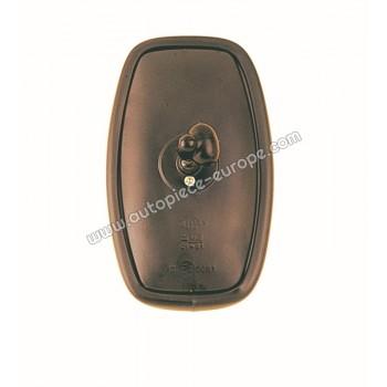 TETE RETRO Pour support  10 mm  - 125x205 mm - Côté Droit-Gauche - Commande manuelle - Glace bombée - métal noir