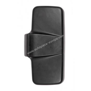 TETE RETRO Côté Droit-Gauche - Commande manuelle - Glace bombée - noir - 250x480 mm - Fix 22 mm