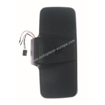 TETE RETRO Coté conducteur - Commande électrique - Dégivrant - Glace bombée - noir - 250x480 mm - Fix 22 mm