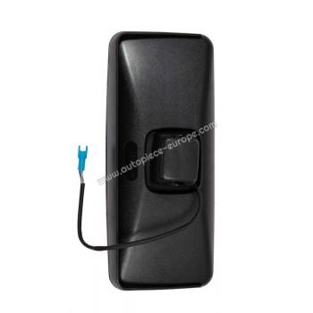 TETE RETROCôté Droit-Gauche - Commande électrique - Dégivrant - Glace bombée - noir - 188x431 mm - Fix 28 mm