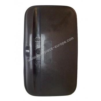 TETE RETRO Côté Droit-Gauche - Commande manuelle - Glace bombée - noir - 184x304 mm - Fix 22 mm