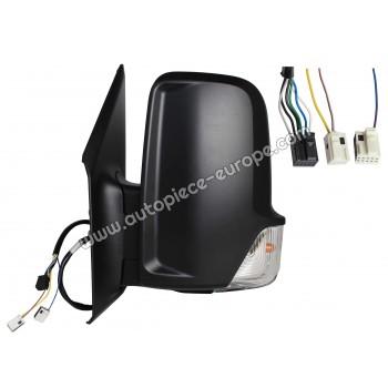 RETROVISEUR Coté conducteur - Commande électrique - Dégivrant - Glace bombée - Clignotant - Coiffe noire - Bras court