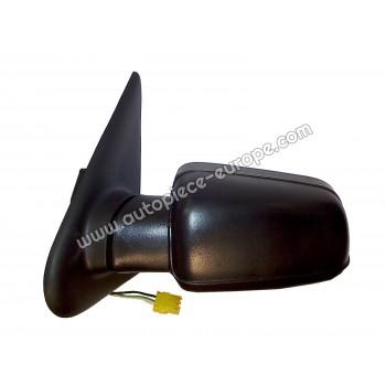 RETROVISEUR Coté conducteur - Commande électrique - Glace bombée - Coiffe noire
