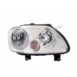 PHARE Avant - Côté droit - Correcteur électrique - Ampoule H7 - Ampoule H1 - Clignotant - Chromé