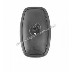 TETE RETRO Pour support  10 mm - 125x205 mm - Côté Droit-Gauche - Commande manuelle - Glace plate - métal noir