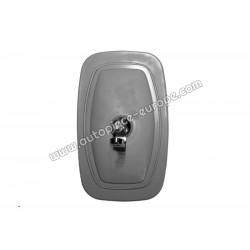 TETE RETRO Pour support 15 mm - 150x245 mm - Côté Droit-Gauche  - Commande manuelle - Glace plate - métal gris