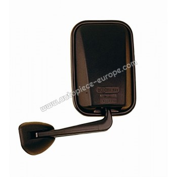 RETROVISEUR Coté conducteur - Commande manuelle - Glace bombée - Coiffe noire - PM 214mm x 142mm - Bras court