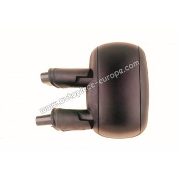 RETROVISEUR Coté conducteur - Commande manuelle - Glace bombée - Coiffe noire
